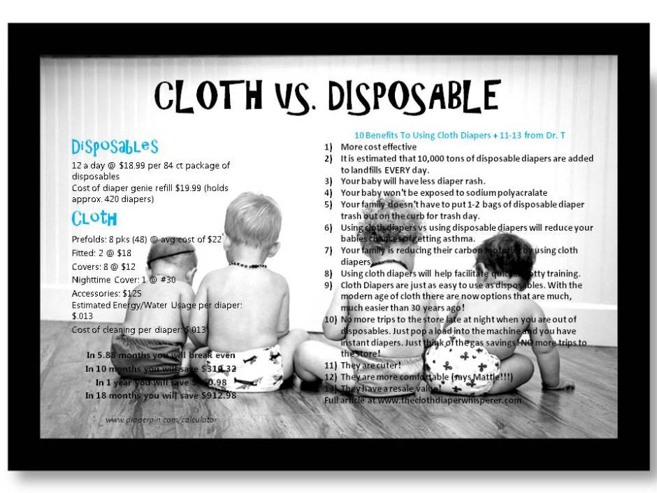 Cloth vs. Disposable