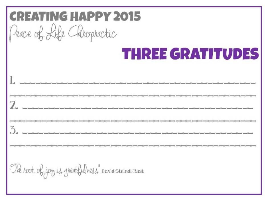 3 Gratitudes